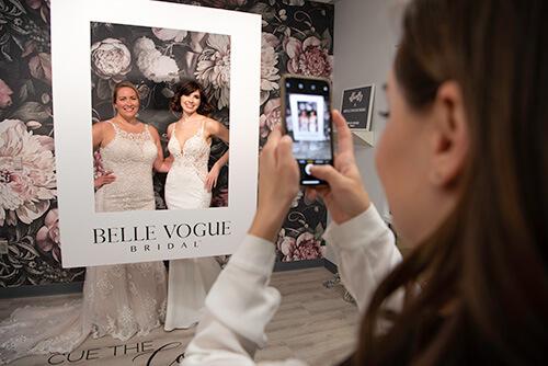 Belle Vogue Bridal Grand Opening Photo Wall - Kansas City
